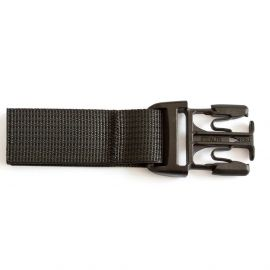 Stealth- side-release buckle with strap